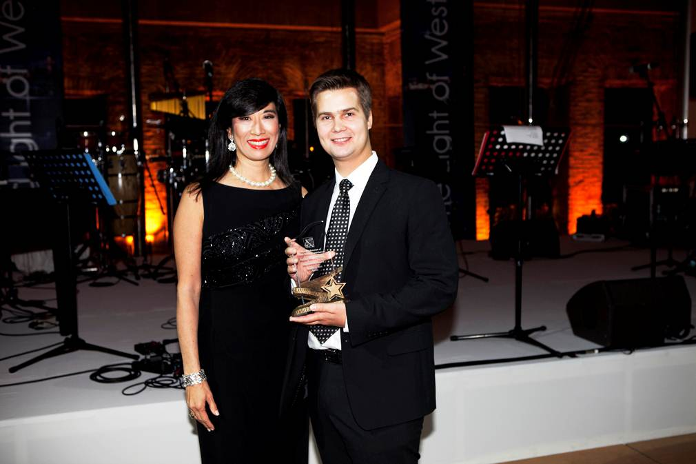 Award with Andrea Jung
